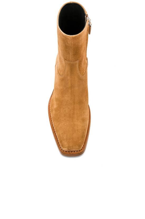 Raf Simons EU43 - Caramel Brown Calf Leather Suede Western Boots - SS18 Size US 10 / EU 43 - 17