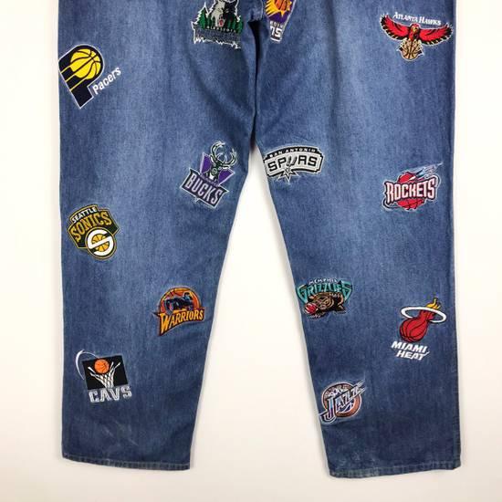 Vintage 💥NEED GONE💥BD7 Vintage All Team NBA Fullprint Denim Pants Size US 38 / EU 54 - 7