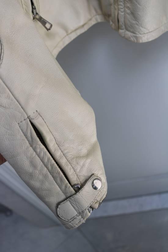 Maison Margiela SS 2002 WHITE LEATHER JACKET WITH PATCHES Size US L / EU 52-54 / 3 - 21