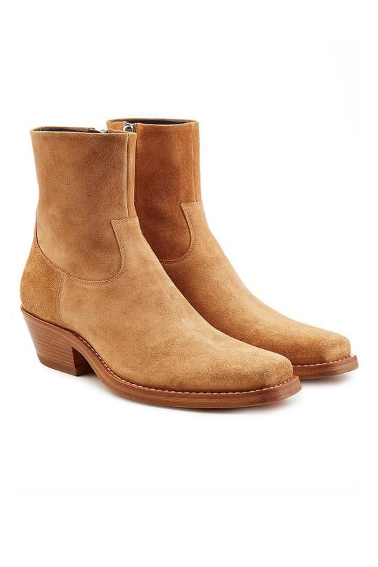 Raf Simons EU43 - Caramel Brown Calf Leather Suede Western Boots - SS18 Size US 10 / EU 43 - 13