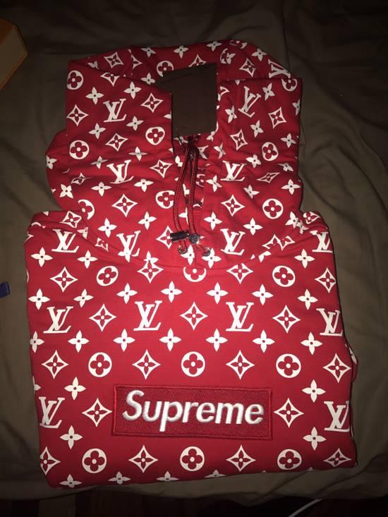 Supreme Supreme x Louis Vuitton Red Monogram Box Logo Hoodie Size US XS / EU 42 / 0