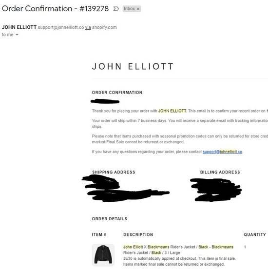Blackmeans JOHN ELLIOTT X BLACKMEANS RIDER'S JACKET Size US L / EU 52-54 / 3 - 8