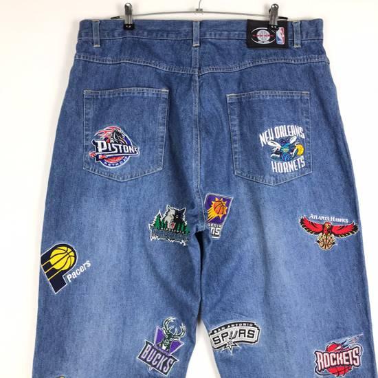 Vintage 💥NEED GONE💥BD7 Vintage All Team NBA Fullprint Denim Pants Size US 38 / EU 54 - 6