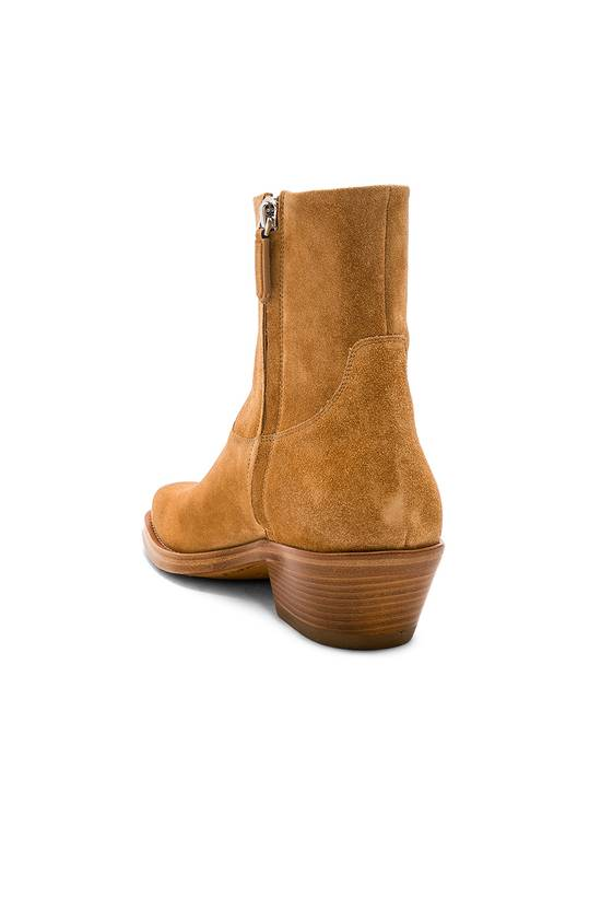 Raf Simons EU43 - Caramel Brown Calf Leather Suede Western Boots - SS18 Size US 10 / EU 43 - 16