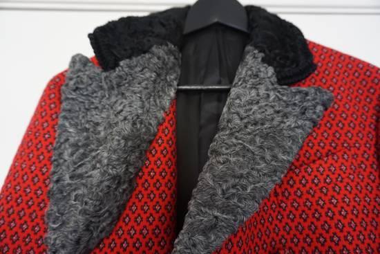 Prada red jacquard coat 2012 fall runway Size US M / EU 48-50 / 2 - 6