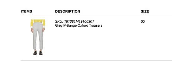 Thom Browne Grey Melange Oxford Trousers Size US 28 / EU 44 - 2