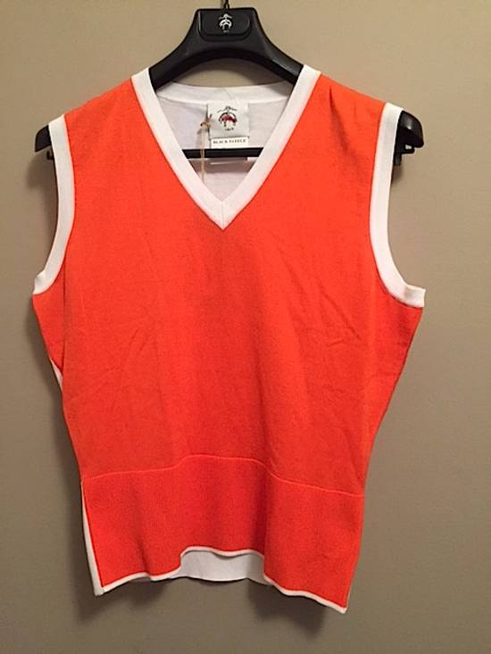 Thom Browne Coral-White Color-Block Sweater Vest NEW Size US M / EU 48-50 / 2