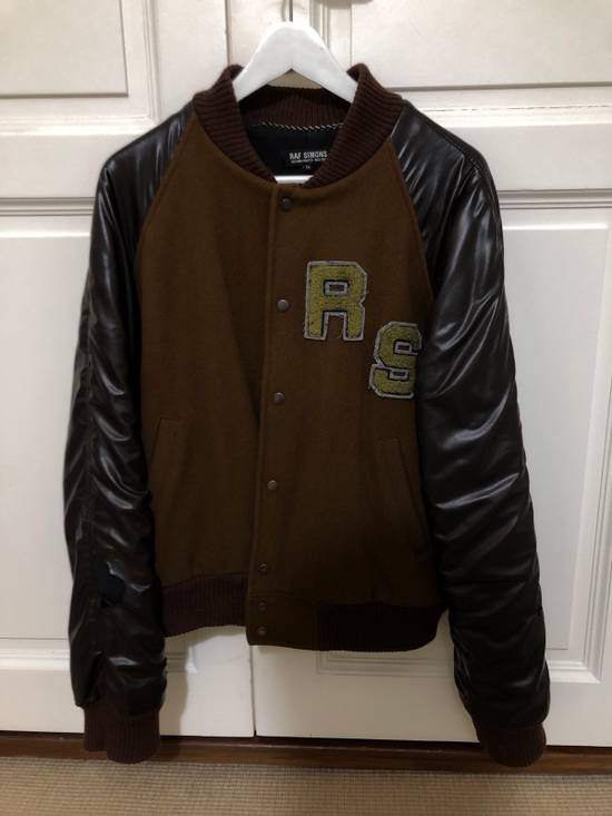 Raf Simons Virginia Creeper Brown Varsity Jacket Size US M / EU 48-50 / 2 - 9