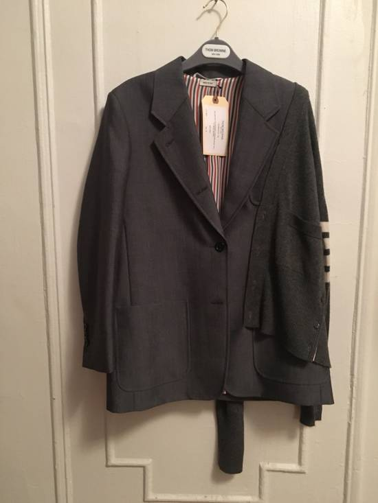 Thom Browne FW16 Runway Reconstructed Blazer Cashmere Cardigan Sweater Size 34S - 6