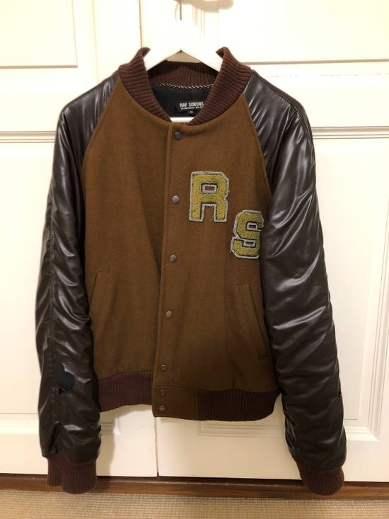 Raf Simons Virginia Creeper Brown Varsity Jacket Size US M / EU 48-50 / 2