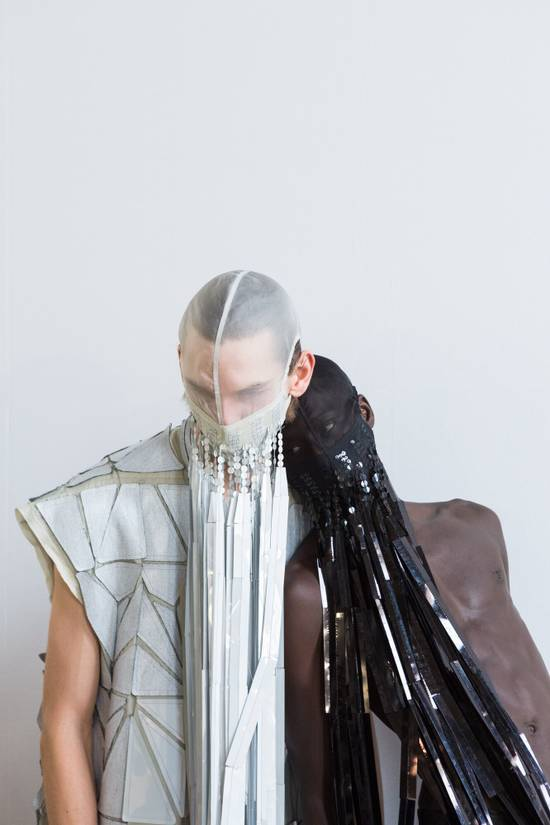Rick Owens new M SILVER FACE MASK BABEL SS19 Size ONE SIZE