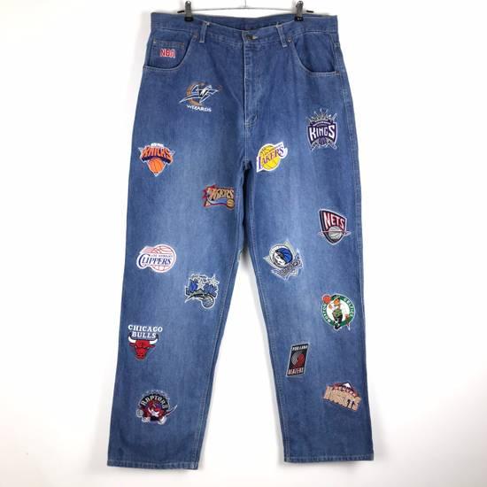 Vintage 💥NEED GONE💥BD7 Vintage All Team NBA Fullprint Denim Pants Size US 38 / EU 54