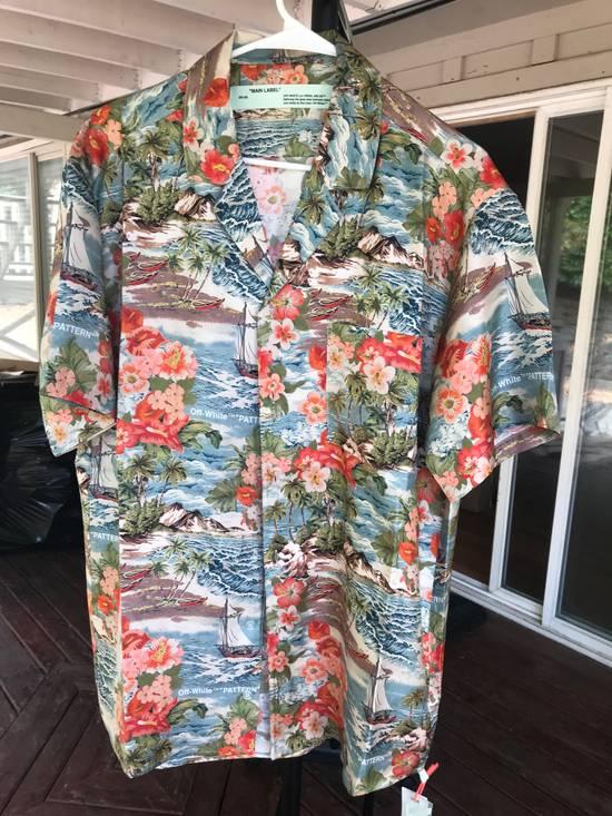 Off-White Off White Silk Hawaiian Shirt Size US L / EU 52-54 / 3