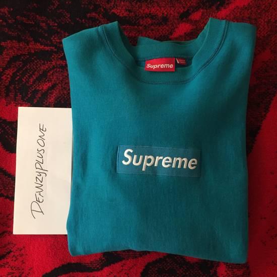 Supreme 2006 Teal Box Logo Crewneck Size US L / EU 52-54 / 3