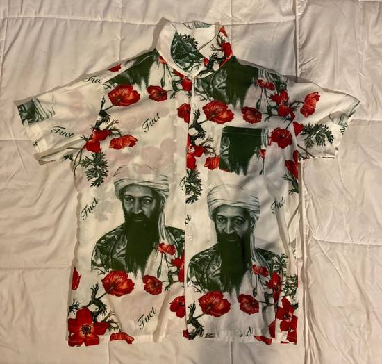 """Fuct Fuct Osama Bin Laden """"War On Drugs"""" button up Size US L / EU 52-54 / 3"""
