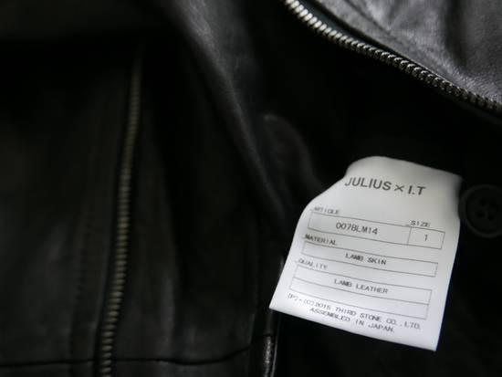 Julius Julius Black Asymmetric Zipped Leather Jacket Size US S / EU 44-46 / 1 - 4