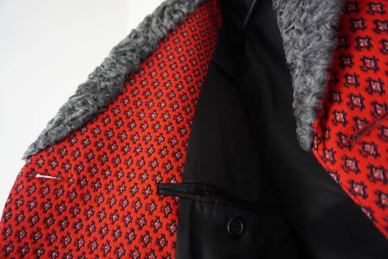 Prada red jacquard coat 2012 fall runway Size US M / EU 48-50 / 2 - 7