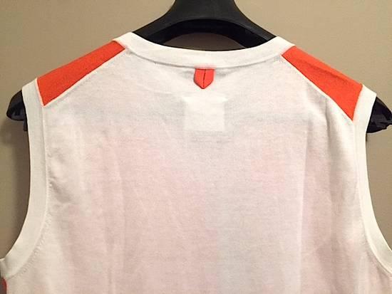 Thom Browne Coral-White Color-Block Sweater Vest NEW Size US M / EU 48-50 / 2 - 2