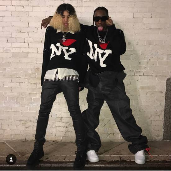 Raf Simons I Heart NY Sweater (Black) Size US M / EU 48-50 / 2 - 5