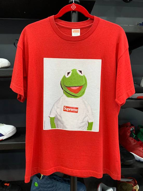Supreme 2008 Red Supreme Kermit Photo T-shirt Size L Size US L / EU 52-54 / 3