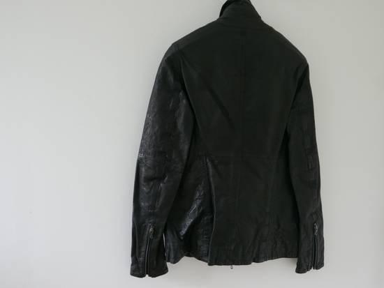 Julius Julius Black Asymmetric Zipped Leather Jacket Size US S / EU 44-46 / 1 - 2