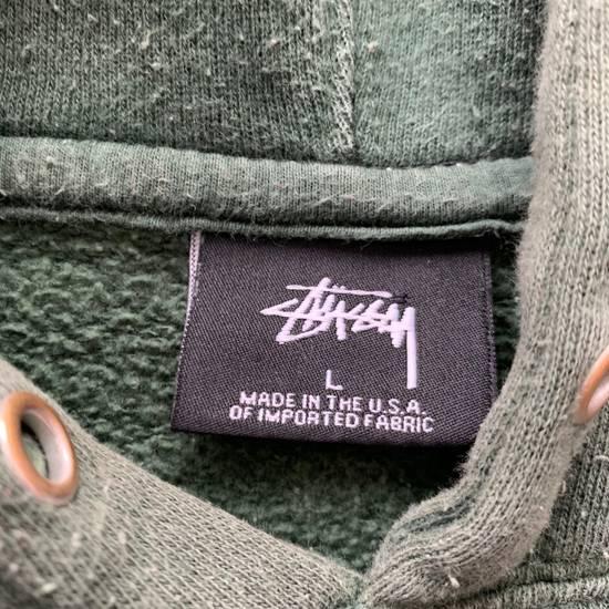 Vintage Vintage 90s Stussy Hoodie Green Distressed Made In USA Size US L / EU 52-54 / 3 - 2