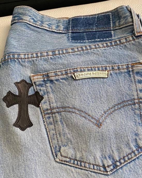 Chrome Hearts Chrome hearts cross patch denim jeans Size US 34 / EU 50 - 7