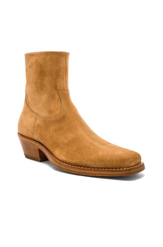 Raf Simons EU43 - Caramel Brown Calf Leather Suede Western Boots - SS18 Size US 10 / EU 43 - 14