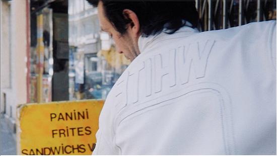 "Maison Margiela 2002 ""WHITE"" LEATHER JACKET WITH PLAIN APPLIQUE LOGOS Size US M / EU 48-50 / 2 - 13"
