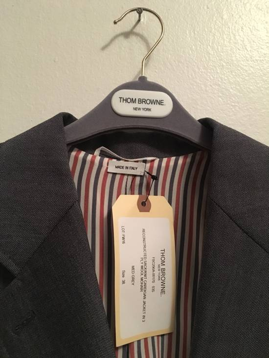 Thom Browne FW16 Runway Reconstructed Blazer Cashmere Cardigan Sweater Size 34S - 4