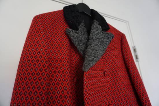 Prada red jacquard coat 2012 fall runway Size US M / EU 48-50 / 2 - 4