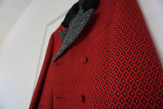 Prada red jacquard coat 2012 fall runway Size US M / EU 48-50 / 2 - 5