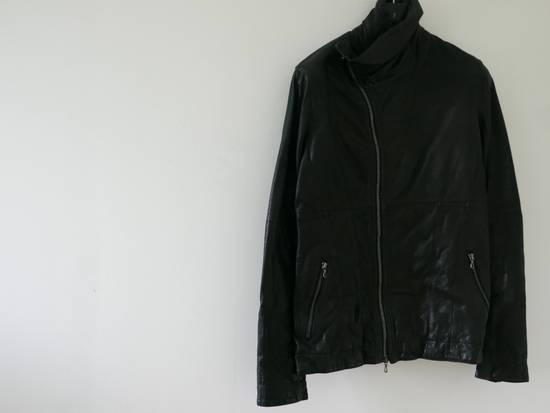 Julius Julius Black Asymmetric Zipped Leather Jacket Size US S / EU 44-46 / 1