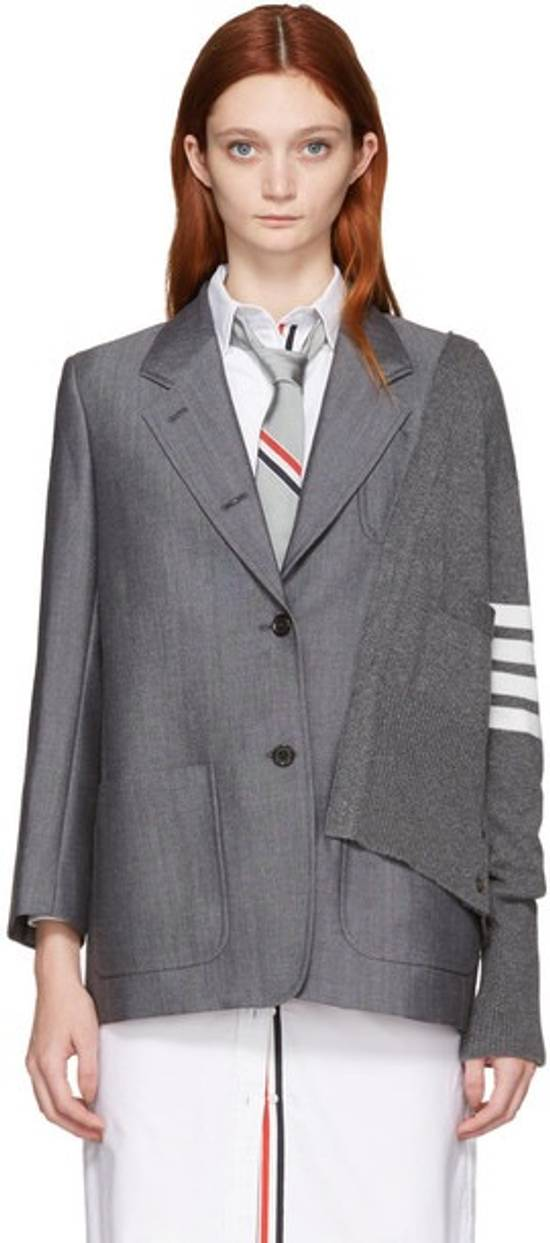 Thom Browne FW16 Runway Reconstructed Blazer Cashmere Cardigan Sweater Size 34S - 8