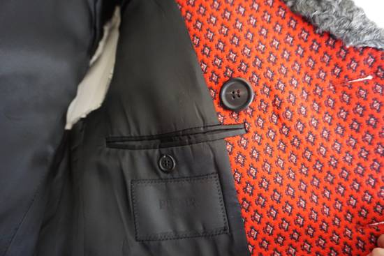 Prada red jacquard coat 2012 fall runway Size US M / EU 48-50 / 2 - 8