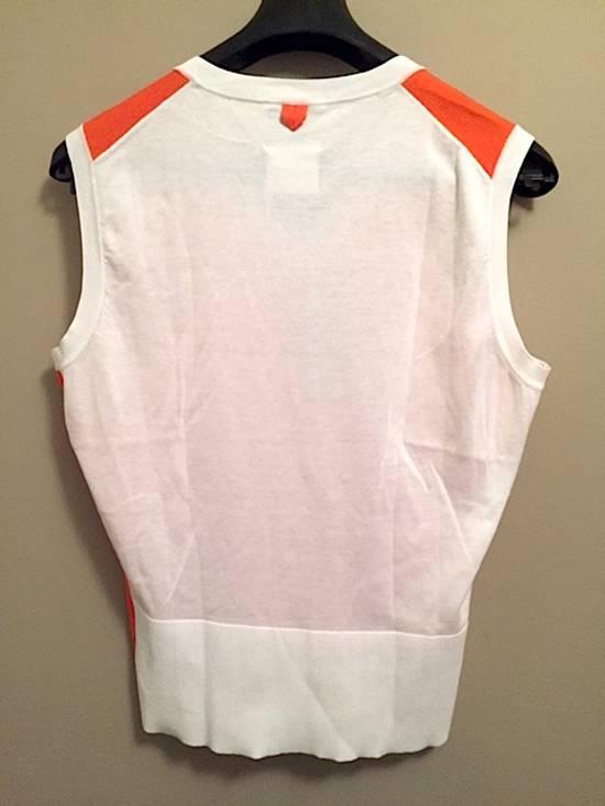 Thom Browne Coral-White Color-Block Sweater Vest NEW Size US M / EU 48-50 / 2 - 1