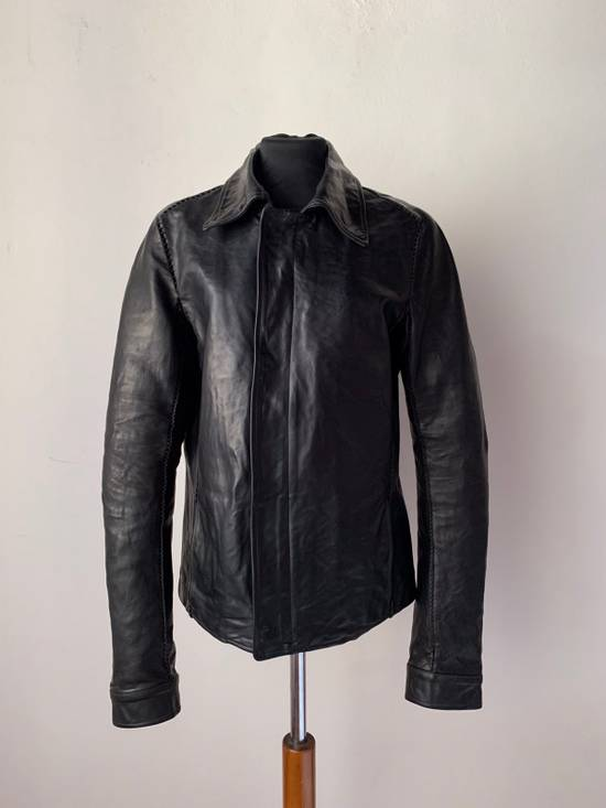 Carol Christian Poell CCP SS '07 Paranoid Collection - Overlock Leather Jacket Size US S / EU 44-46 / 1