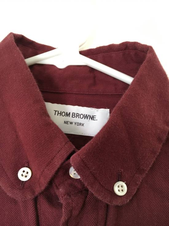 Thom Browne Red Shirt with Green Knit Cuff Size US S / EU 44-46 / 1 - 2
