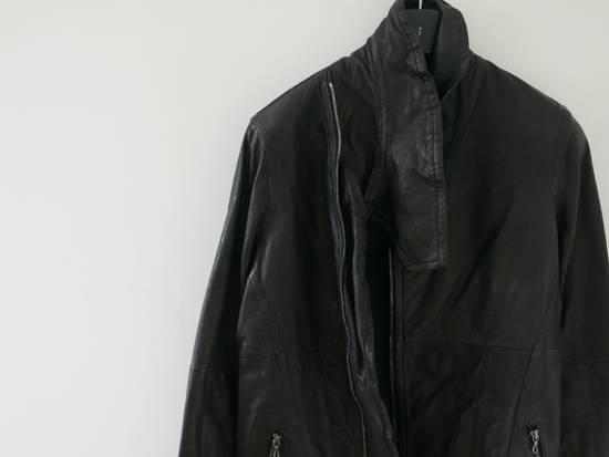 Julius Julius Black Asymmetric Zipped Leather Jacket Size US S / EU 44-46 / 1 - 1
