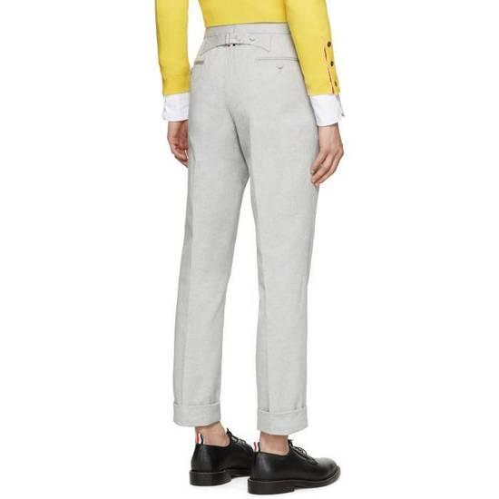 Thom Browne Grey Melange Oxford Trousers Size US 28 / EU 44 - 1