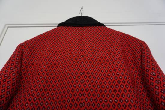 Prada red jacquard coat 2012 fall runway Size US M / EU 48-50 / 2 - 10