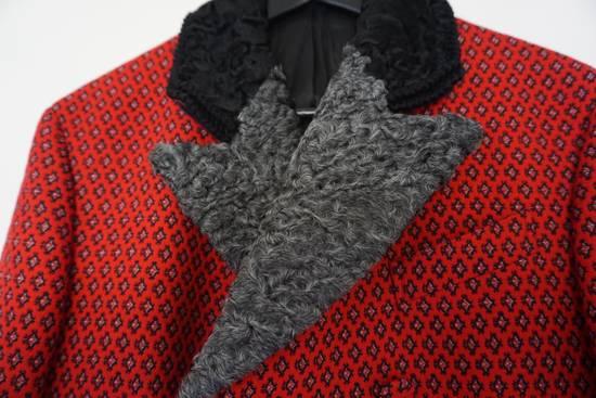 Prada red jacquard coat 2012 fall runway Size US M / EU 48-50 / 2 - 3
