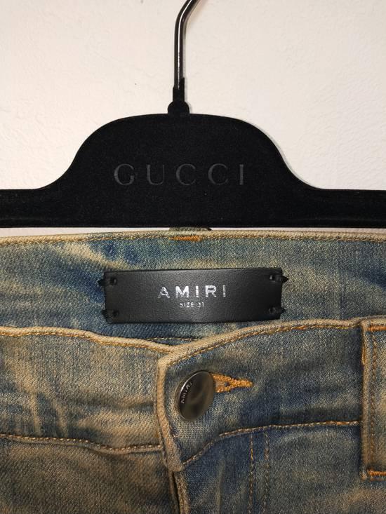 Amiri Dirty Indigo Glitter Track Jeans Size US 31 - 5