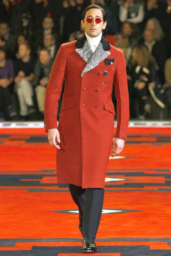 Prada red jacquard coat 2012 fall runway Size US M / EU 48-50 / 2