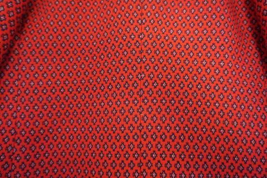 Prada red jacquard coat 2012 fall runway Size US M / EU 48-50 / 2 - 14