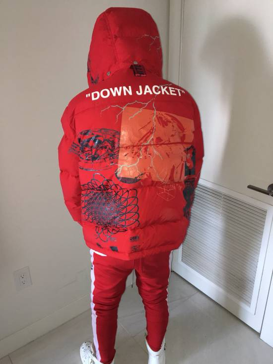 Off-White RED DOWN JACKET Size US L / EU 52-54 / 3 - 1