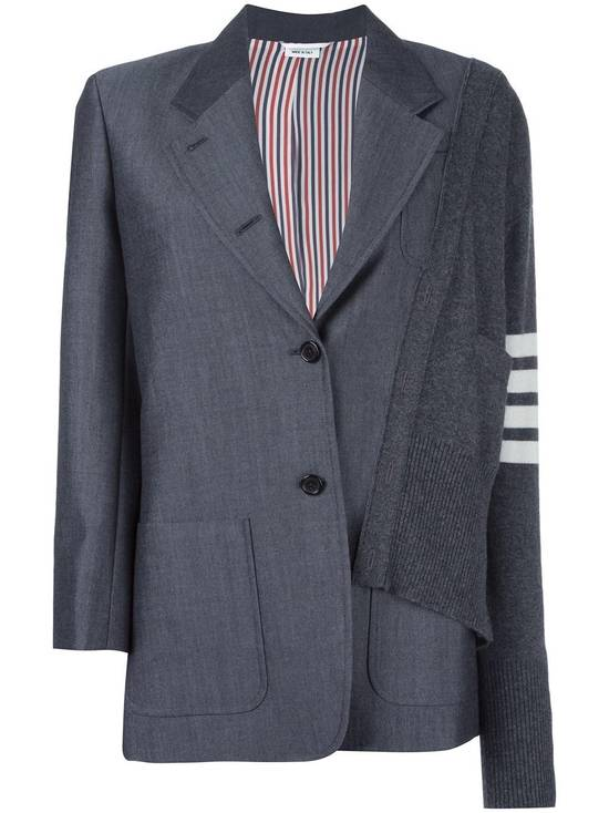 Thom Browne FW16 Runway Reconstructed Blazer Cashmere Cardigan Sweater Size 34S - 9