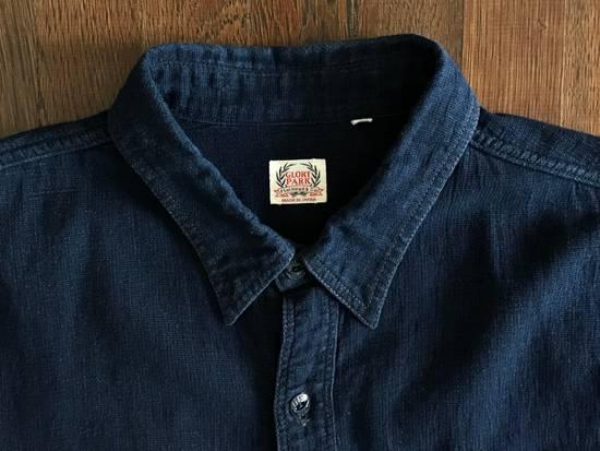 The Flat Head The Flat Head Indigo Dyed Selvedge Linen Shirt, Size 42 (Medium Self Edge) Size US M / EU 48-50 / 2 - 3