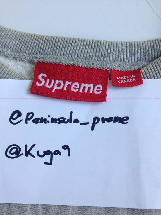Supreme 2001 Navy on Grey Box Logo Crewneck Playboi Carti Version FIRM PRICE Size US XL / EU 56 / 4 - 2