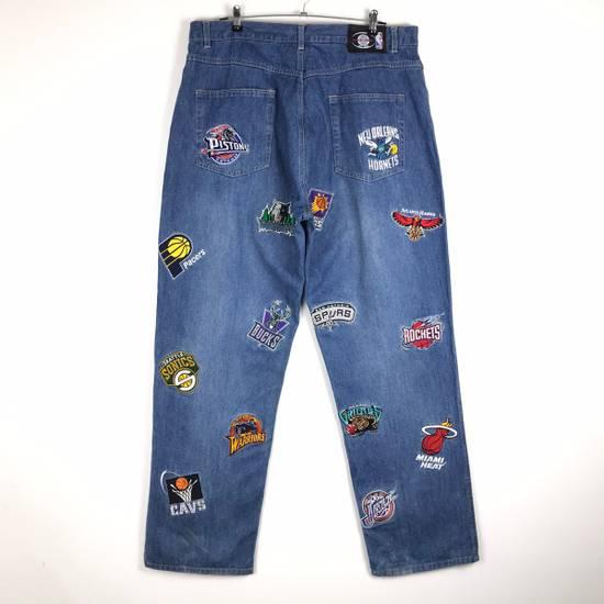 Vintage 💥NEED GONE💥BD7 Vintage All Team NBA Fullprint Denim Pants Size US 38 / EU 54 - 5